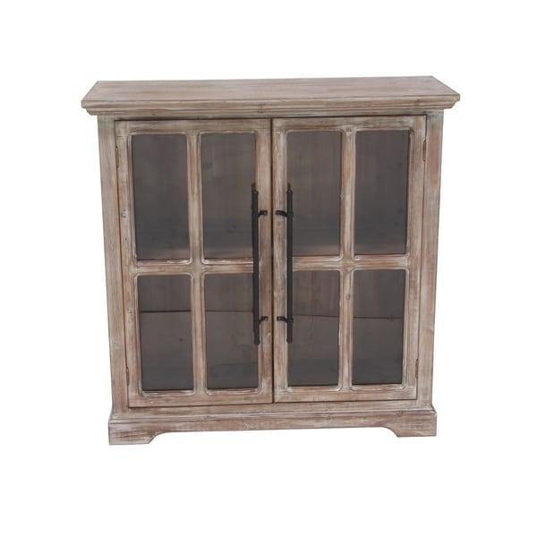 Traditional 2-Door Wooden Rectangular Cabinet