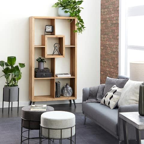 Modern Rectangular Wooden Standing Shelf