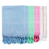 Just Linen Peshtemal Bath Towels 100 % Cotton Light Weight Highly Absorbent,30 X 58 Inches, Set of 8