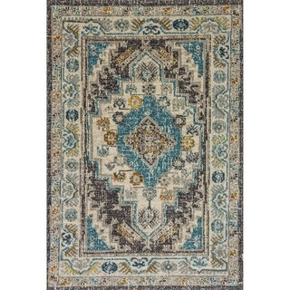 Zodiac Contemporarty Beige/Grey Area Rug - 7.10x10.10
