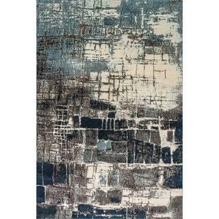 Shop Safavieh Adirondack Modern Abstract Silver Blue Rug