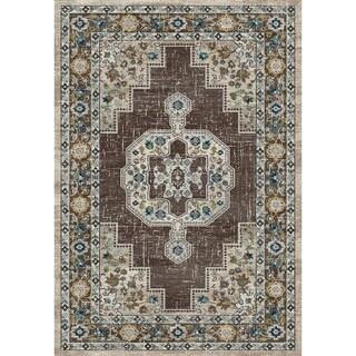 Zodiac Oriental Grey Area Rug - 7'10 x 10'10
