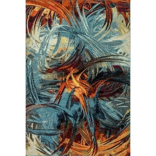 Zodiac Blue/Multi Abstract Area Rug - 7.10x10.10