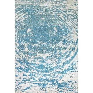 Zodiac Aqua Blue Area Rug - 5'3 x 7'7