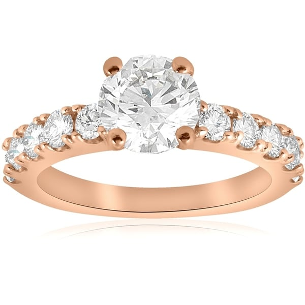 Shop Bliss 14K Rose Gold 2 Ct TDW Diamond Clarity Enhanced
