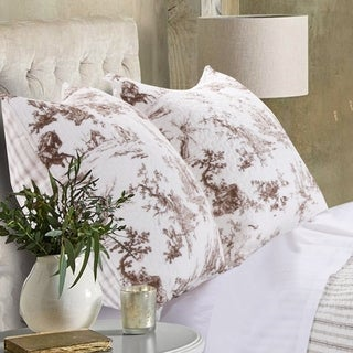 Classic Toile Taupe Sham Set (Set of Two Pillow Shams)