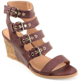 Journee Collection Women's 'Monika' Open-toe Gladiator Wedges