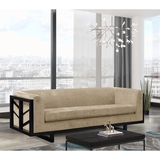 Link to Chic Home Mabel Sofa Linen-Textured Upholstery Lattice Wood Frame Similar Items in Recessed Lights