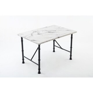 Anders Contemporary Faux Marble Metal Dining Room Table