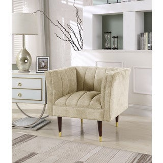 Chic Home Alma Accent Club Chair Clam Shell Linen-Textured Upholstery