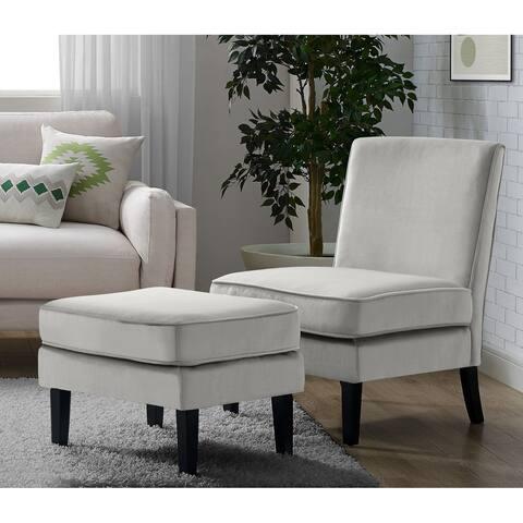 Elle Decor Olivia Chair and Ottoman