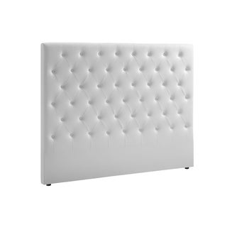 Casabianca Home Miles White Eco-leather King Headboard