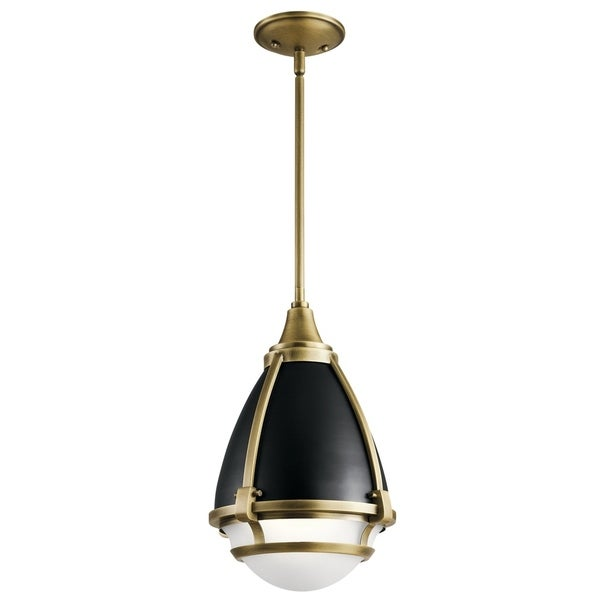 Kichler Lighting Ayra Collection 1-light Natural Brass Pendant