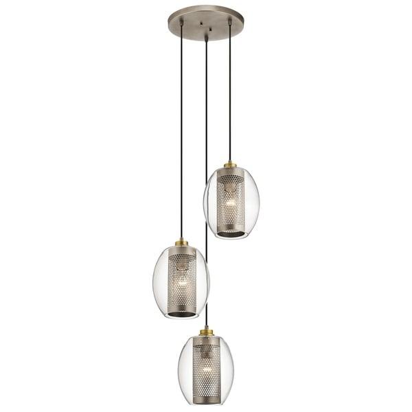 Kichler Lighting Asher 3-Light Antique Pewter Pendant