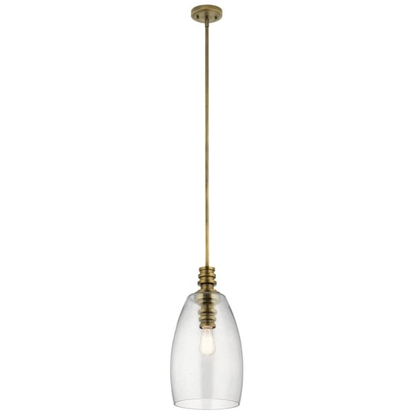 Kichler Lighting Lakum Collection 1-light Natural Brass Pendant