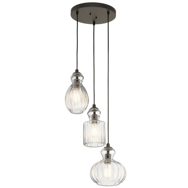 Kichler Lighting Riviera Collection 3-light Olde Bronze Pendant