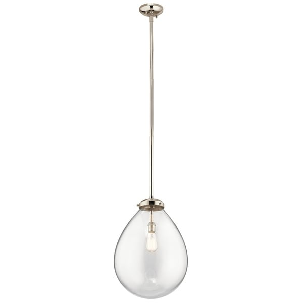 Kichler Lighting Claudia Collection 1-light Polished Nickel Pendant - Polished Nickel
