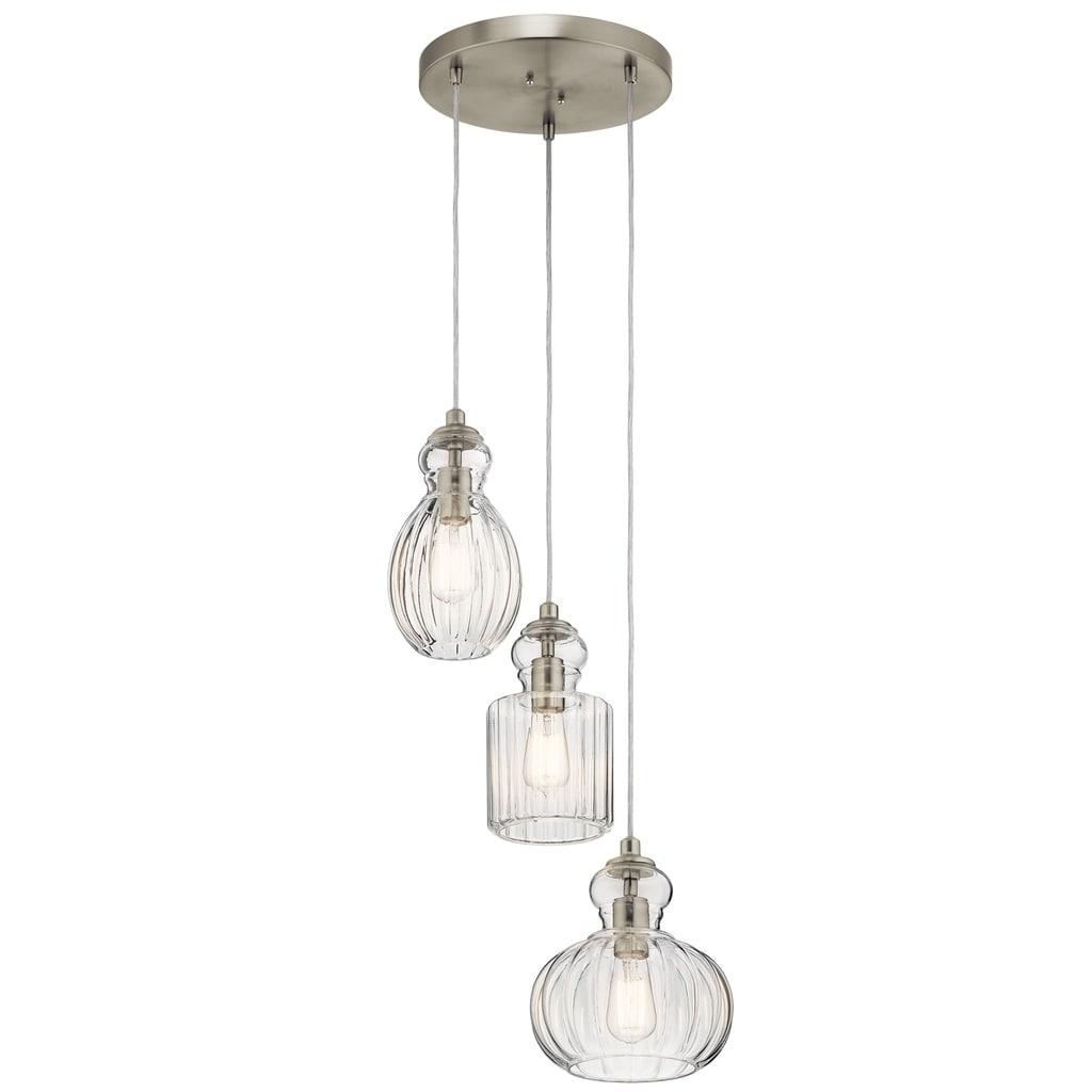 Kichler Lighting Riviera Collection 3 Light Brushed Nickel Pendant Overstock 19561481
