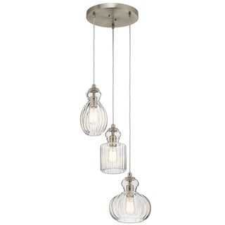 Kichler Lighting Riviera Collection 3-light Brushed Nickel Pendant
