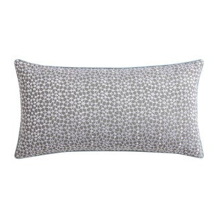 """Christian Siriano Ombre Lace Blue 12""""x 22"""" Embroidered Decorative Throw Pillow"""