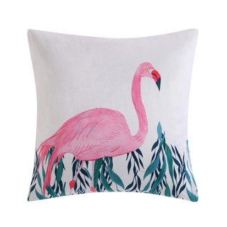 Christian Siriano Tropicalia Square Flamingo Throw Pillow