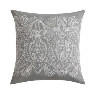 """Christian Siriano Ombre Lace Blue 18"""" Square EmbroideredDecorative Throw Pillow"""