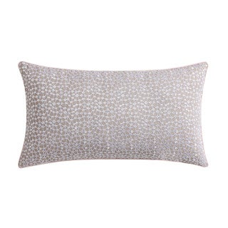 """Christian Siriano Ombre Lace Blush 12""""x 22"""" Embroidered Decorative Throw Pillow"""