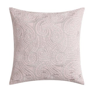 """Christian Siriano Ombre Lace Blush 16"""" Square Embroidered Decorative Throw Pillow"""