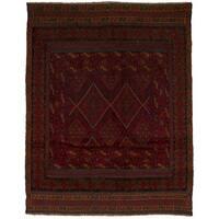 eCarpetGallery Hand-Knotted Tajik Caucasian Red Wool Rug (4'8 x 5'9)