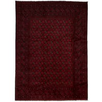eCarpetGallery Hand-Knotted Khal Mohammadi Red Wool Rug (6'7 x 9'3)