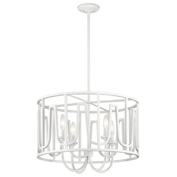 Kichler Lighting Sutton White Steel 4-light Pendant
