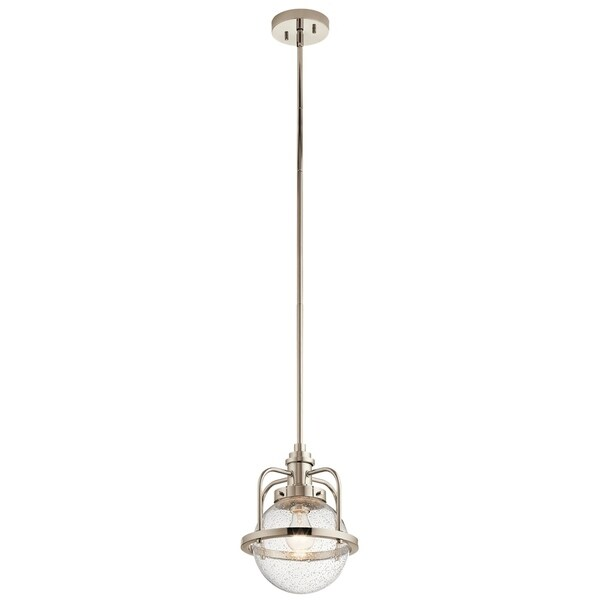 Kichler Lighting Triocent Collection 1-light Polished Nickel Pendant/Semi-Flush Mount - Polished Nickel