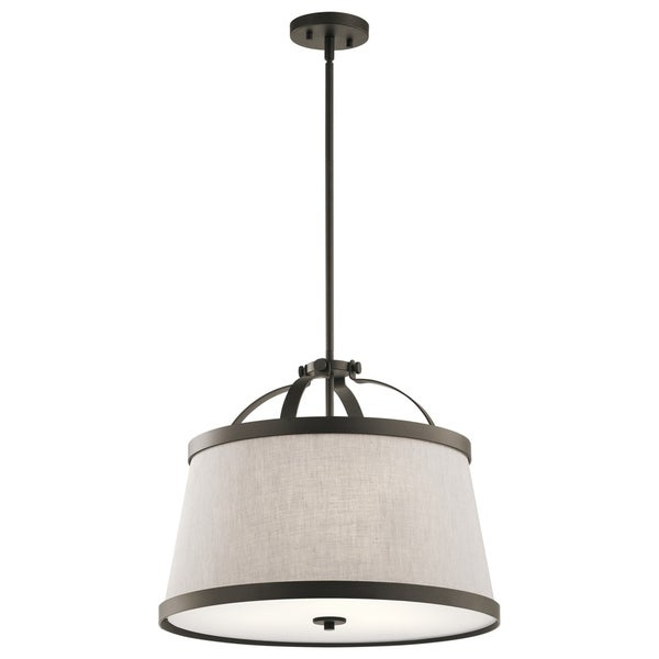 Kichler Lighting Amarena Collection 3-light Olde Bronze Pendant/Semi-Flush Mount