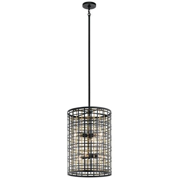 Kichler Lighting Aldergate Collection 6-light Black Foyer Pendant