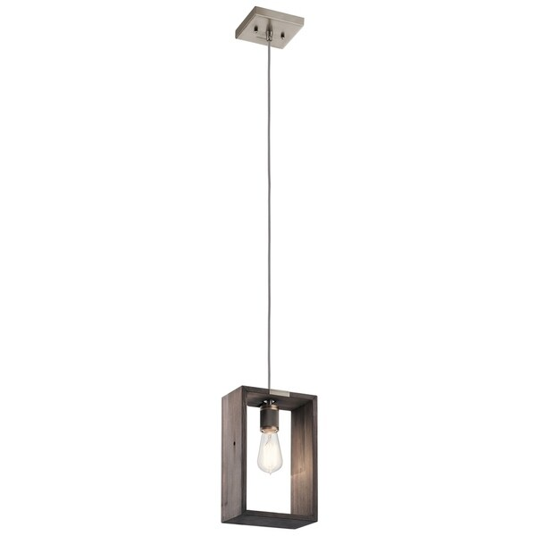 Kichler Lighting Industrial Frames Collection 1-light Pewter Pendant
