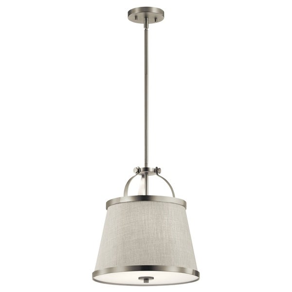 Kichler Lighting Amarena Collection 2-light Brushed Nickel Pendant/Semi-Flush Mount