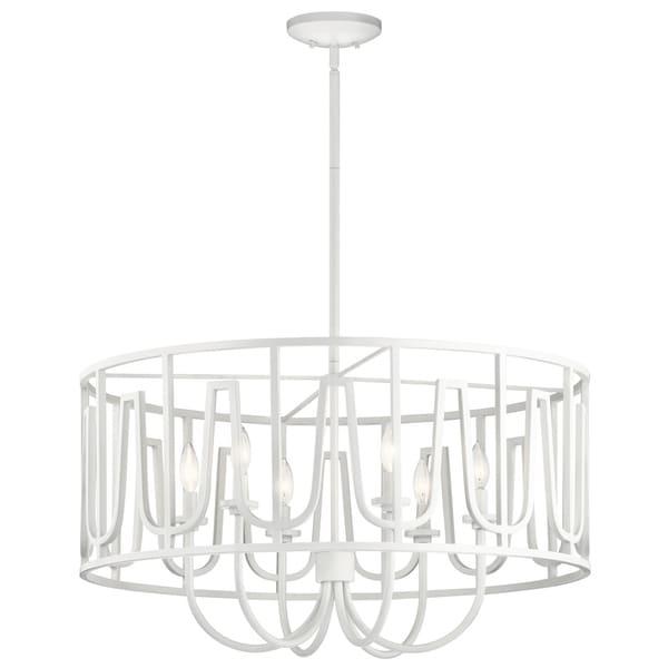 Kichler Lighting Sutton White Steel 6-light Pendant