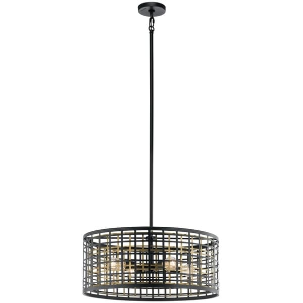 Kichler Lighting Aldergate Collection 4 Light Black Chandelier Pendant