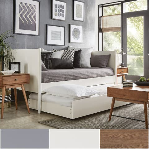 Bethany Mid-Century Modern Tapered Leg Wood Daybed by iNSPIRE Q Modern
