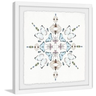 'Butterfly Kaleidoscope' Framed Painting Print