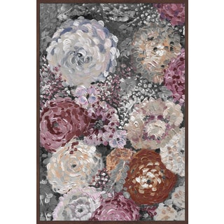 Marmont Hill - Handmade Peony Punch Floater Framed Print on Canvas