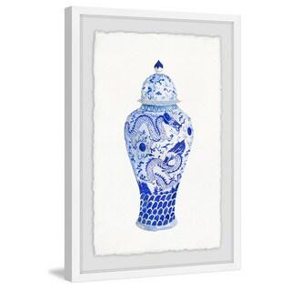 'Blue Vase' Framed Painting Print
