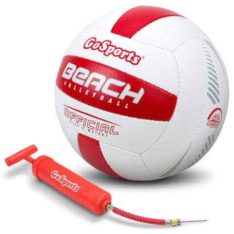 GoSports Pro Series Outdoor Beach Volleyball Regulation Size & Weight with Bonus Air Pump (Single or 6 Pack)