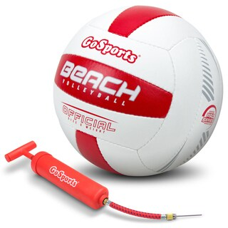 GoSports Pro Series Outdoor Beach Volleyball Regulation Size & Weight with Bonus Air Pump (Single or 6 Pack) (2 options available)