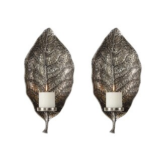 Uttermost Zelkova Leaf Wall Sconces (Set of 2)