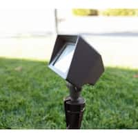 French Impression Wired Landscape Aluminum Rectangular Flood Light with LED Low Voltage Light Bulb