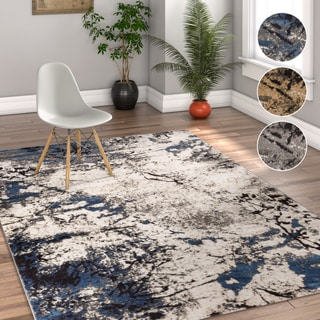 """Well Woven Modern Marble Area Rug - 3'11"""" x 5'3"""""""