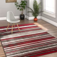 Well Woven Well Woven Modern Boho Distressed Red Area Rug - 7'10 x 9'10