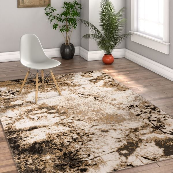 Well Woven Modern Yellow Area Rug - 7'10 x 10'6