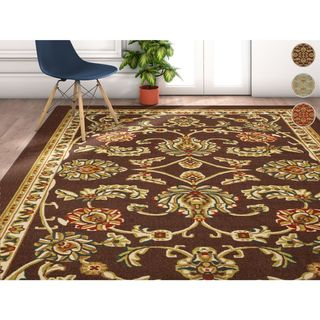 Well Woven Traditional Oriental Area Rug - 7'10 x 9'10